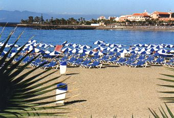The beach near Los Cristianos
